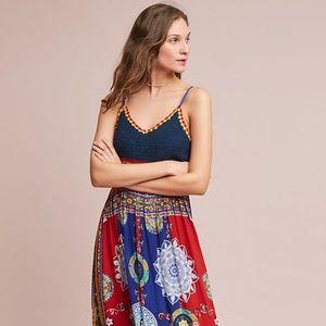 Anthropologie Raga Esmera Crochet Maxi Dress XXSP